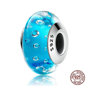 Sterling Silver & Murano Glass Spacer Beads - 32 Designs
