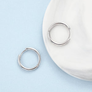Sterling Silver Circle Earrings with Cubic Zirconia
