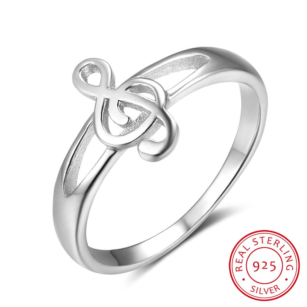 Sterling Silver Treble Clef Ring, Sterling Silver Ring, Silver Ring, Band Ring, Music Ring, Band Jewelry, Orchestra Jewelry, Band Dress Accessory, 100Sterling.com, Band Fashion, Band Fashion ring, Girls Band Ring, Girls Fashion ring