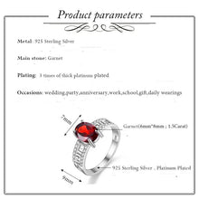 Load image into Gallery viewer, Caroline 1.5 Carat Oval Garnet Gemstone Ring with Sterling Silver Setting