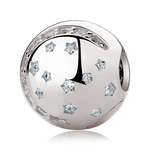 Sterling Silver Moon & Stars Bead Clip