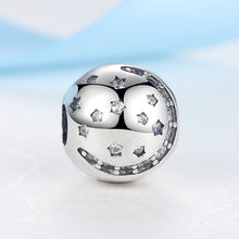 Load image into Gallery viewer, Sterling Silver Moon & Stars Bead Clip