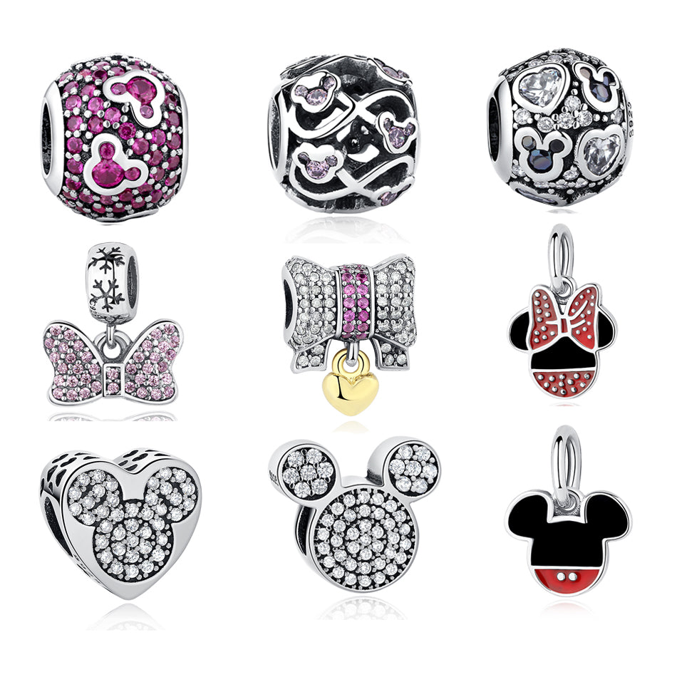 a16c05635 Load image into Gallery viewer, Sterling Silver Magical Mouse Bead  Collection - 15 Sparkling Designs ...