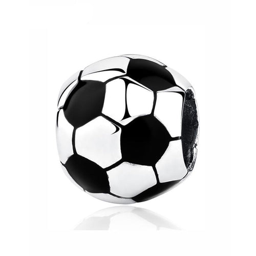 Sterling Silver Soccer Ball Bead Charm