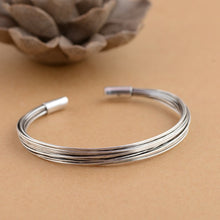 Load image into Gallery viewer, Sterling Silver  Multi-Strand Open Cuff Bangle