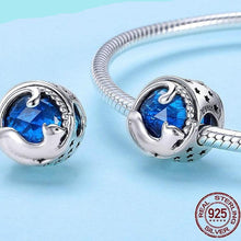 Load image into Gallery viewer, Sterling Silver Blue Jewel Cat Bead