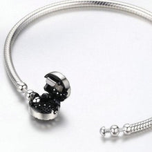 Load image into Gallery viewer, Sterling Silver Dazzling Dial Snake Chain Bracelet