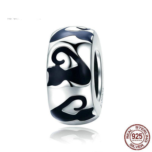 Sterling Silver Black Cat Spacer Bead