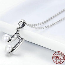Load image into Gallery viewer, Sterling Silver & Fresh Water Pearl Musical Note Pendant Necklace, Sterling Silver Music Necklace, Pearl Music Necklace, Sterling Silver Necklace, Music Jewelry, 100Sterling.com