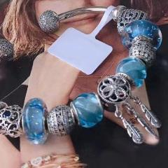 "Sterling Silver ""Blue Water Dreams"" Bangle Bracelet - SPECIAL OFFER!"
