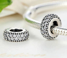 Load image into Gallery viewer, Sterling Silver Cubic Zirconia Spacer Beads