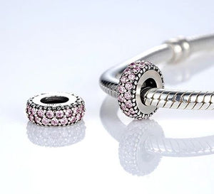 Sterling Silver Cubic Zirconia Spacer Beads