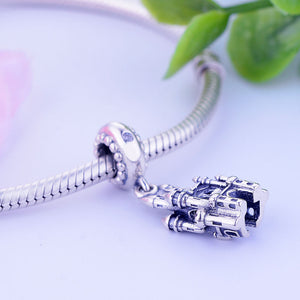 Dangling Sterling Silver Enchanted Castle Charm