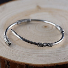 Load image into Gallery viewer, Sterling Silver Roping Detail Bangle