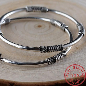 Sterling Silver Roping Detail Bangle