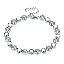 "Load image into Gallery viewer, Sterling Silver ""Sparkling Eternity"" Bracelet"