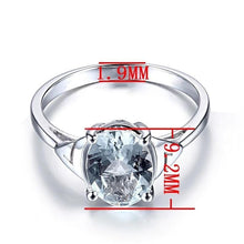 Load image into Gallery viewer, Addy's Oval Aquamarine & 14K White Gold Ring