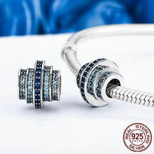 Load image into Gallery viewer, Sterling Silver Waves of Blue Bead Charm