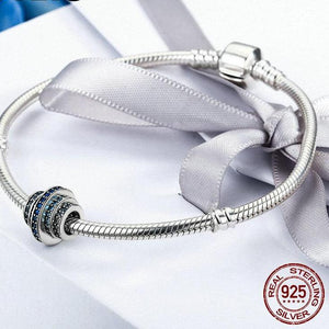 Sterling Silver Waves of Blue Bead Charm