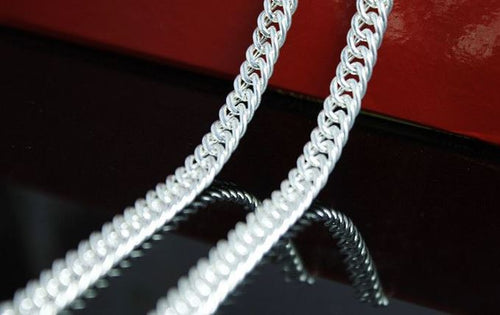 Sterling Silver Horse Whip Chain Necklace