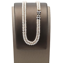 Load image into Gallery viewer, 7-7.5mm Double Row Freshwater Pearl Necklace