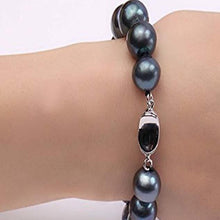 Load image into Gallery viewer, 12-13mm AAA Blue Freshwater Pearl Bracelet, Freshwater Pearl Bracelet, Wedding Jewelry, Bridal Jewelry, Bridal Pearls, Wedding Pearls, Pearl Bracelet, 12mm Pearl Bracelet, 13mm Pearl Bracelet, Freshwater Pearls, 100Sterling.com, Freshwater Pearl Bracelet, Large Pearls, Freshwater pearls, Classic Pearl Bracelet, 100Sterling.com, Wedding Jewelry, Anniversary pearls, Evening Pearls, Daytime Pearls, Fashion Pearls