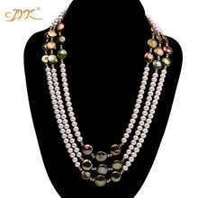 Load image into Gallery viewer, Limited Edition 3-Strand Designer Freshwater & Barogue Pearl Necklace