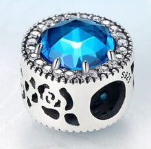 Load image into Gallery viewer, Sterling Silver Jewel Charm Bead - 6 Colors