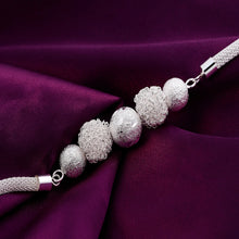 Load image into Gallery viewer, Women's Silver Plated Snow Ball Bracelet