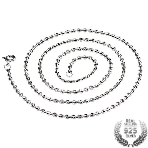 Classic 2.0mm Wide Sterling Silver Link Chain Necklace, Sterling Silver Chain, Sterling Silver Link Necklace, Chain for Pendent, 100Sterling.com