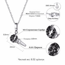 "Load image into Gallery viewer, Sterling Silver 18"" Necklace with Cubic Zirconia Microphone Pendent"