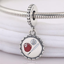 Load image into Gallery viewer, Sterling Silver Homerun  Charm