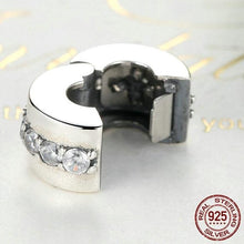 Load image into Gallery viewer, Sterling Silver & Cubic Zirconia Eternity Bead Clip