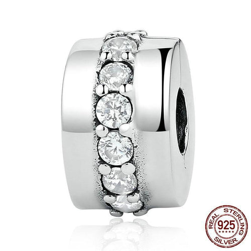 Sterling Silver & Cubic Zirconia Eternity Bead Clip