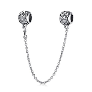 Sterling Silver Safety Chain Charms - 23 Designs