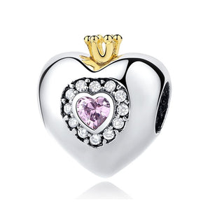 Sterling Silver Sparkling Royal Charm Bead Collection