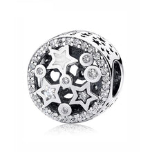 Load image into Gallery viewer, Sterling Silver Sparkling Star Charm Bead