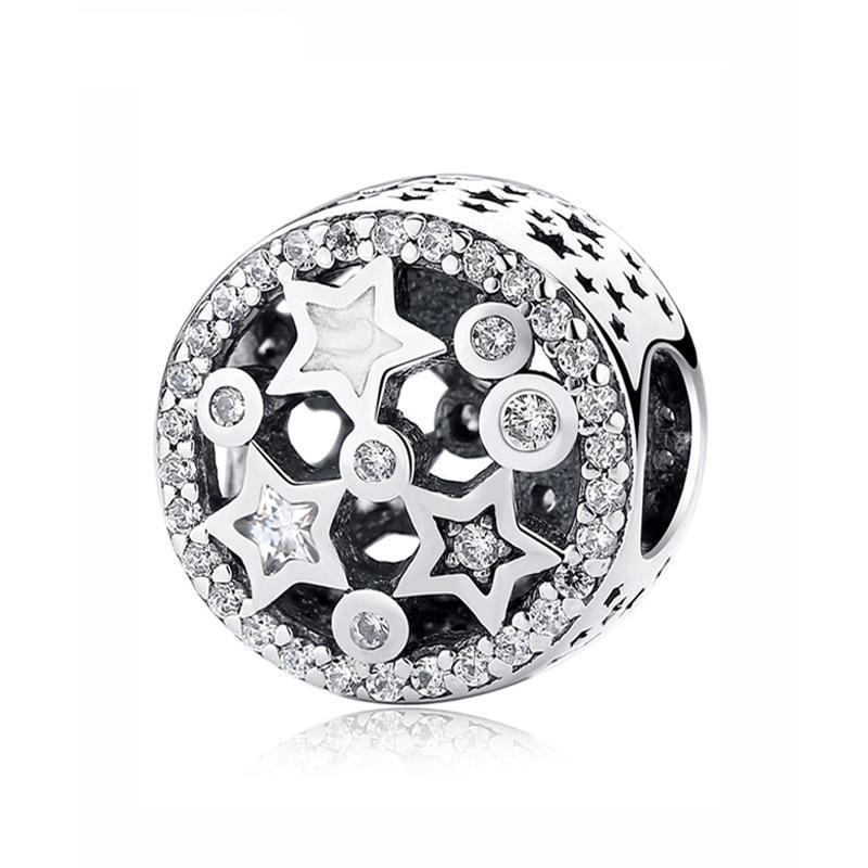 Sterling Silver Sparkling Star Charm Bead