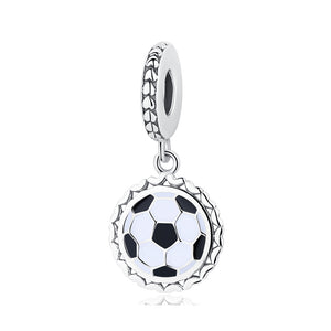 Sterling Silver Soccer, Basketball & Hockey Dangling Bead Charms