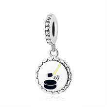 Load image into Gallery viewer, Sterling Silver Soccer, Basketball & Hockey Dangling Bead Charms
