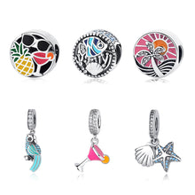 Load image into Gallery viewer, Sterling Silver Tropical Bead & Charm Collection