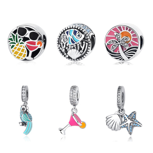 Sterling Silver Tropical Bead & Charm Collection