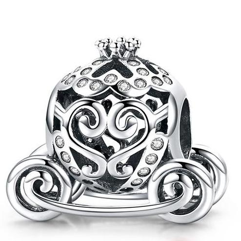 Sterling Silver Sparkling Cinderella Pumpkin Carriages - Two Designs