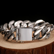 Load image into Gallery viewer, Thai Sterling Silver Link-on-Link Bracelet, Thai Sterling Silver Chain Link Bracelet, Sterling Silver Chunky Bracelet, Sterling Silver Bracelet, Men's Sterling Silver Bracelet, heavy Sterling Silver, Men's jewelry, Luxury Jewelry, Exclusive jewelry, 100sterling.com