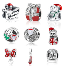 Load image into Gallery viewer, Colorful Sterling Silver Christmas Bead Charm Collection - 10 Designs