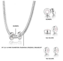Load image into Gallery viewer, Sterling Silver Smooth Finish Round Bead Spacer or Stopper