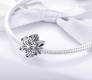 Sterling Silver Snowflake Bead Charm