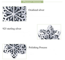 Load image into Gallery viewer, Sterling Silver Snowflake Bead Charm