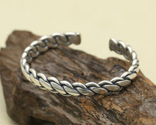 Load image into Gallery viewer, Solid Sterling Silver Domar Braided Weave Open Cuff