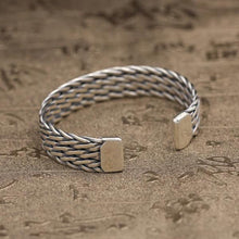 Load image into Gallery viewer, Sterling Silver Triple Weave Cuff Bracelet